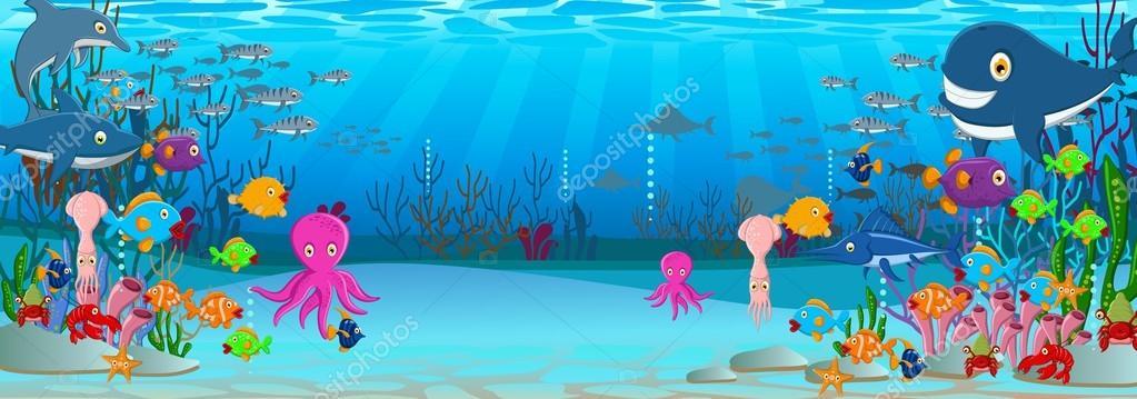 Dibujos Animados Del Fondo Del Mar