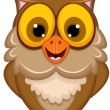 Cute owl cartoon — Stock Vector