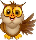 Cute owl cartoon — Stock Vector