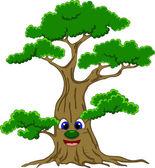 Cute tree cartoon — Stock Vector