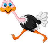 Ostrich cartoon — Stock Vector