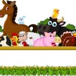 Farm Family with blank board — Stock Vector #47121851