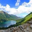Morskie Oko lake in polish Tatra mountains - Stock Photo