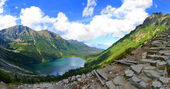 Morskie Oko lake in polish Tatra mountains — Stock Photo