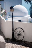 Original architectural style of houses of a city Sidi Bou Said, Tunis — Stock Photo