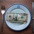 Ten dollar dinner — Stock Photo