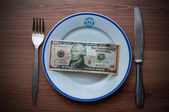 Ten dollar dinner — Stock Photo