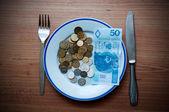 Zloty diner — Stockfoto