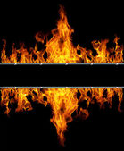 Double flame — Stock Photo