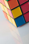 Scrambled rubik — Stock Photo