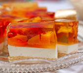 Jelly cake with peach — Stock Photo