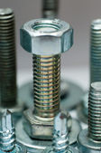 Stainless steel bolt and nut — Stock Photo