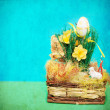 Vintage photo of easter basket — Stock Photo #22233655