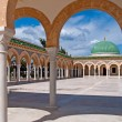 Stock Photo: Mausoleum of Habib Bourgibin Monastir, Tunisia