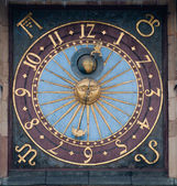 Solar clock on Wroclaw's Tower, Poland — Stock Photo