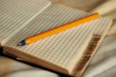 Vintage Notebook with pen — Stockfoto