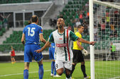 WROCLAW, POLAND - July 18:UEFA Europa League, Paixao after score a second goal, Slask Wroclaw vs Rudar Pljevlja on July 18:, 2013 in Wroclaw, Poland. — Stock Photo