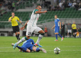 WROCLAW, POLAND - July 18:UEFA Europa League, Paixao in action, Slask Wroclaw vs Rudar Pljevlja on July 18:, 2013 in Wroclaw, Poland. — Stock Photo