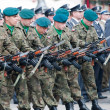 Stock Photo: Wroclaw - August 15: Soldiers in action (Day of Polish Army) on August 15 2013 in Wroclaw, Poland