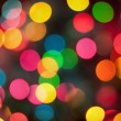Real bokeh of christmas lights — Stock Photo
