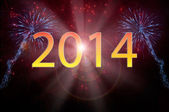 New Year 2014 fireworks — Stock Photo