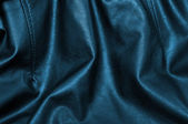 Black and blue leather background — Stock Photo