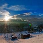 Zakopane - Winter landscape in the morning light — Stock Photo #41373083