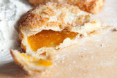 Freshly baked apricot turnover — Stock Photo