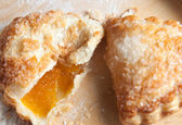 Freshly baked apricot turnover — Stock Photo