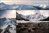 Mountain Collage, view from Kasprowy Wierch and Morskie Oko, Tatry, Poland — Stock Photo