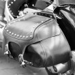 Close up on Motorcycle Saddlebag — Stock Photo