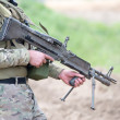 Soldier with heavy machine gun — Stock Photo #46417059