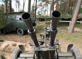 Old time Anti aircraft machine gun — Stock Photo