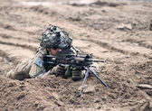 Wroclaw, Poland - May 10. 2014:Us Marines on Military show on May 10, 2014 in Worclaw, Poland — Stock Photo