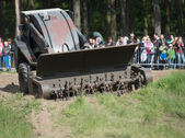 Wroclaw, Poland - May 10. 2014: Bozena-4NL carrie wheeled remote-control mine flail  on Military show on May 10, 2014 in Worclaw, Poland — Stock Photo