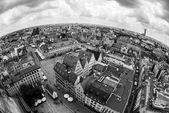 弗罗茨瓦夫老镇,波兰的鱼眼全景 — 图库照片