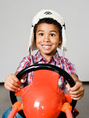 American african driver — Stock Photo