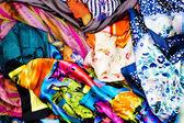 Tessuto colorato — Foto Stock