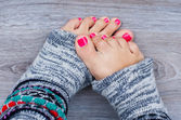 Pink pedicure — Stock Photo