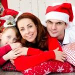 Noel aile — Stok fotoğraf