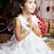Girl in angel costume — Stock Photo