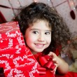 Foto Stock: Christmas girl
