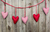 Set of hearts for holiday — Stock Photo