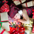 Sleep among the gifts — Stock Photo