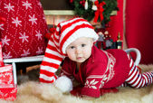 Child in a christmas — Stock Photo