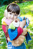 Girl with toy — Stockfoto