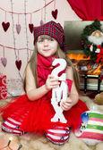 Girl in christmas — Stock Photo