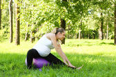 Exercise for pregnant — Stock Photo