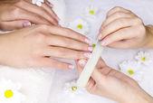Vrouwelijke manicure — Stockfoto