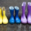 Colorful family boots — Stock Photo